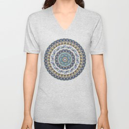 Frenchie Yoga Medallion Unisex V-Neck