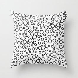 Oodles of doodles: Modern fun circle doodle Throw Pillow