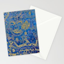 Mexican gold on blue Stationery Cards