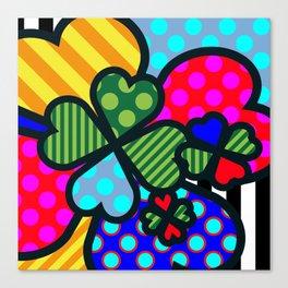 Lucky Cloverleaf XL Canvas Print