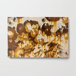 Peeling paint on rust. Metal Print