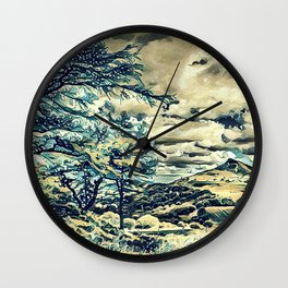 Oriental Hillside Wall Clock