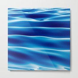 Blue Sea Waves in the Ocean Metal Print