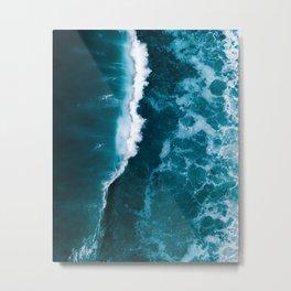 Wild Blue Ocean Wave – Oceanscape Photography Metal Print