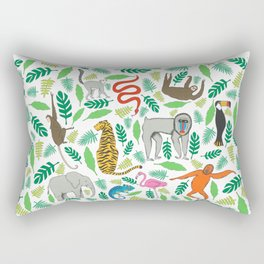 Animals in the Jungle Rectangular Pillow