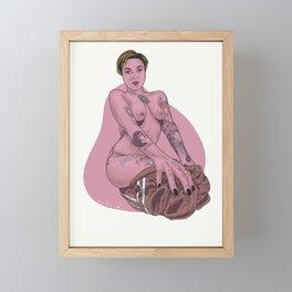 Ollie Pink Framed Mini Art Print