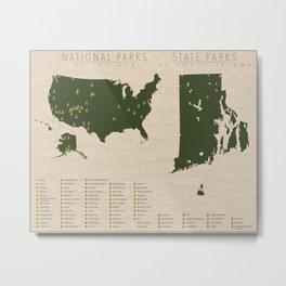 US National Parks - Rhode Island Metal Print