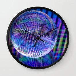 Criss Cross lights in the ball Wall Clock