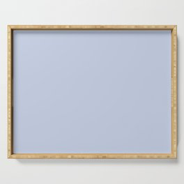 From Crayon Box – Periwinkle Blue - Pastel Blue Solid Color Serving Tray