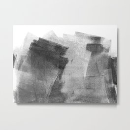 Black and Grey Concrete Texture Urban Minimalist Metal Print