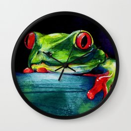 Hello by Kathy Morton Stanion Wall Clock