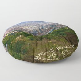Mount Monserrate, with a 10,000 ft view of Bogota Colombia Floor Pillow