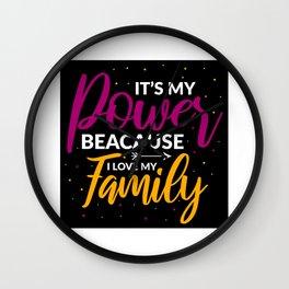 Family Love Family Love Wall Clock