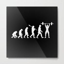Bodybuilding Pump Muscle Evolution Design Motif Metal Print