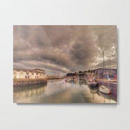 Porthmadog Harbour at Dusk Metal Print