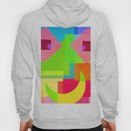 Abstract Geometry Face Hoody