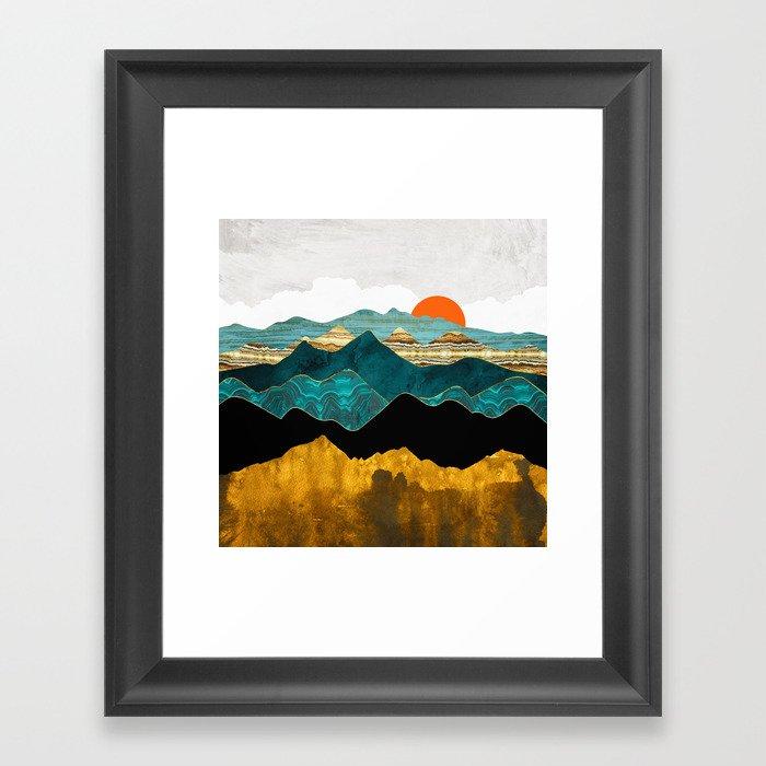 Turquoise Vista Gerahmter Kunstdruck
