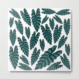 Alocasia Pattern Metal Print