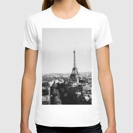Paris City Sky // Eiffel Tower City Landscape Photography Shot from the top of Champs Elysees France T-shirt