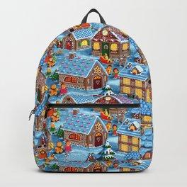 Gingerbread Village on Christmas Eve Backpack
