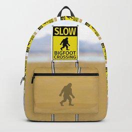 Bigfoot Crossing Sign Backpack