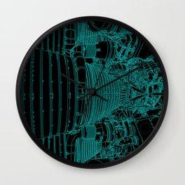 Apollo Rocket Booster - Green Neon Wall Clock