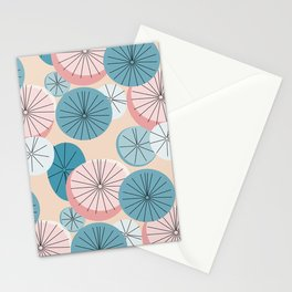 Modern Retro Pastel Pattern Stationery Cards