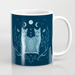 Symmetrical Two Cats Coffee Mug
