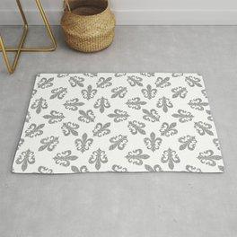 fleur de lis seamless pattern nola doodle Rug