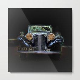Fractal car vintage car4 Metal Print
