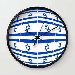 flag of israel 12-יִשְׂרָאֵל ,israeli,Herzl,Jerusalem,Hebrew,Judaism,jew,David,Salomon. Wall Clock