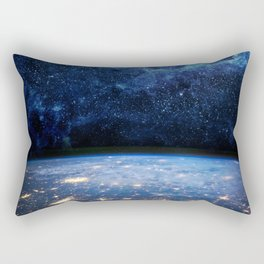 Earth and Galaxy Rectangular Pillow