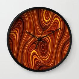 Amber Lava 10 Hi Res Wall Clock