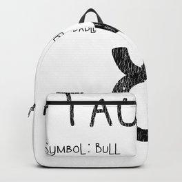 Taurus Horoscope Astrology Star Sign Birthday Gift Backpack