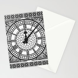 Big Ben, Clock Face, Intricate Vintage Timepiece Watch Stationery Cards