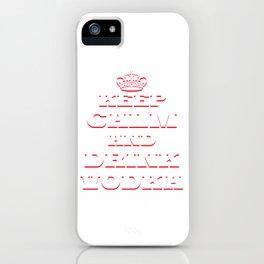 Funny & Relaxing Vodka Tee Design DRINK VODKA iPhone Case