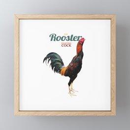 Thai Rooster Framed Mini Art Print