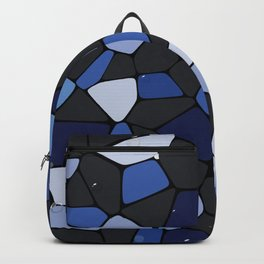 Abstract blue mosaic water illustration Backpack