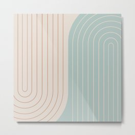 Two Tone Line Curvature XXXX Metal Print