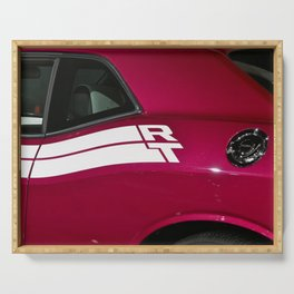 Fuchsia Panther Pink Challenger RT color photograph / photography / poster Serving Tray