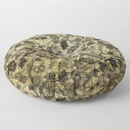 Pattern inked on rock Floor Pillow