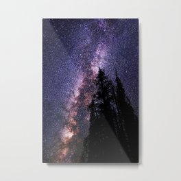 Celestial Starlight in the Forest Near  Lake Irene Colorado by OLena Art - brand Metal Print
