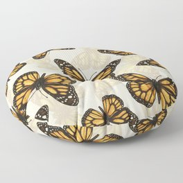 Monarch butterfly pattern Floor Pillow