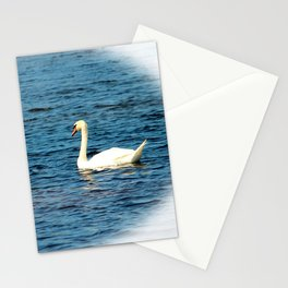 Two Mute Swans Stationery Cards