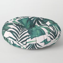 Tropical Jungle Leaves Pattern #5 #tropical #decor #art #society6 Floor Pillow