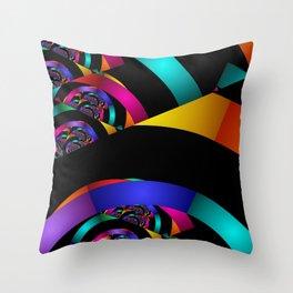 many colors on black Deko-Kissen