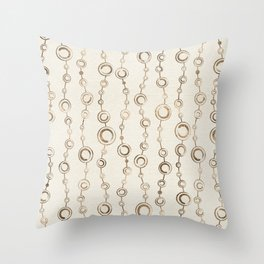 Enso Circle - Zen pattern pastel gold Throw Pillow