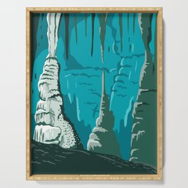 Carlsbad Caverns National Park in Guadalupe Mountains New Mexico United States WPA Poster Art Color Serving Tray