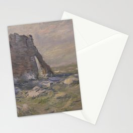 Claude Monet - Cliff and Porte d'Aval by Stormy Weather.jpg Stationery Cards