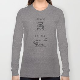 Inhale Exhale English Bulldog Long Sleeve T-shirt